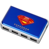 4PORT IROCKS USB 2.0 SUPERMAN HUB BLUE