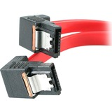 STARTECH 18IN LATCHING SATA M/M CABLE - 2 RIGHT ANGLE