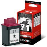 Lexmark No. 71 Black Ink Cartridge - Inkjet - 225 Page - Black - 1  Pack