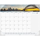 Visual Organizer Harbor Views Monthly Desk Pad