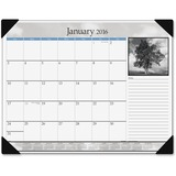 At-A-Glance Black & White Monthly Desk Pad Calendar DMD16200