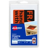 Avery Fragile Labels - 3 Width x 5 Length - Permanent - 40 / Pack - Red