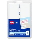 Avery Postage Meter Label - 1.5 Width x 2.75 Length - 4/Sheet - Permanent - 160 / Pack - White