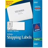 Avery Copier Mailing Label - 2' Width x 4.2' Length - Permanent - 1000 / Box - White