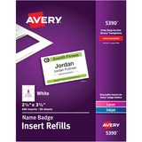 Avery Plain Insert Badge Refill - 5390