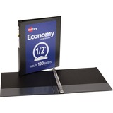 Avery Economy Reference View Binder - Letter - 8.5 x 11 - 100 Sheet x 0.5 Capacity - 1 Each - Black