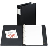 Avery 4 Ring Vinyl Legal Binder - Legal - 8.5 x 14 - 375 Sheet x 2 Capacity - 1 Each - Black