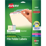 Avery Assorted Removable Filing Label - 6466