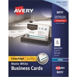 Avery InkJet Clean Edge Business Card - 8870