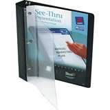 Avery See-Thru Presentation View Binder - Letter - 8.5' x 11' - 175 Sheet x 1' Capacity - 1 Each - Black, Clear