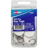 Avery Key Tag - Metal - Clear