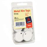 Avery Heavyweight Stock Metal Rim Tags - White