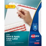 Avery Index Maker Clear Label Divider with Tabs 11417