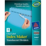 Avery Index Maker Translucent Clear Label Divider