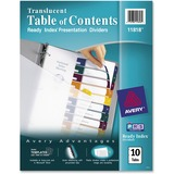 Avery Ready Index Translucent Table of Content Dividers 11818