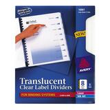 Avery Unpunched Translucent Index Dividers