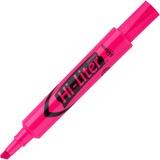 Avery Hi-Liter Desk Style Highlighter - Chisel Marker Point Style - Fluorescent Pink Ink - Pink Barrel - 12 / Dozen