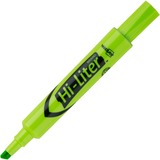 Avery Hi-Liter Desk Style Highlighter - Chisel Marker Point Style - Fluorescent Green Ink - Orange Barrel - 12 / Dozen