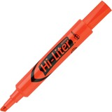 Avery Hi-Liter Desk Style Highlighter - Chisel Marker Point Style - Fluorescent Orange Ink - Orange Barrel - 12 / Dozen