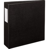 Avery Durable Reference Ring Binder with Label Holder - Letter - 8.5 x 11 - 460 Sheet x 3 Capacity - 1 Each - Black