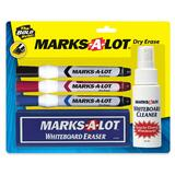 Avery Marks-A-Lot EverBold Flipchart Markers - Chisel Marker Point Style - Black Ink, Blue Ink, Red Ink - Black Barrel, Blue Barrel, Red Barrel - 3 / Set