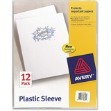"Avery Plastic Sleeve - Letter - 8.5"" x 11"" - 100 Sheet Capacity - 12 / Pack - Clear"