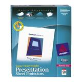 "Avery Diamond Clear Top Loading Sheet Protector - Letter 8.5"" x 11"" - - 74130"