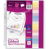 Avery Protect 'n Tab Top Loading Sheet Protector - Letter 8.5 x 11 - Polypropylene - 8 / Set - Clear
