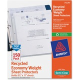 Avery Economy Weight Sheet Protector - Letter 8.5' x 11' - Polypropylene - 150 / Box - Clear