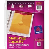 Avery Multi Page Top Loading Sheet Protector - For Magazine, Catalog, Document - 50 Sheet Capacity - Letter 8.5 x 11 - Polypropylene - 25 / Pack - Clear