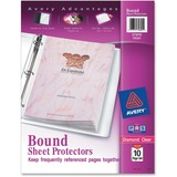 Avery Bound Sheet Protector - For Ring Binder - Letter 8.5' x 11' - Polypropylene - 1 Pack - Clear