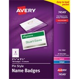 Avery Side Loading Insertable Name Badge Kit