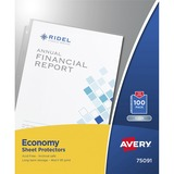 Avery Economy Weight Sheet Protector - Letter 8.5 x 11 - Polypropylene - 100 / Box - Clear