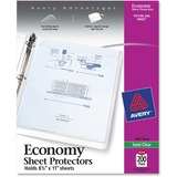 Avery Top Loading Sheet Protector - Letter 8.5' x 11' - Polypropylene - 200 / Box - Semi Clear