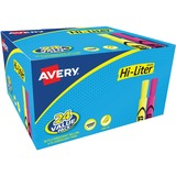 Avery Hi-Liter Bonus Pack - Chisel Marker Point Style - Fluorescent Yellow Ink, Fluorescent Pink Ink - 24 / Pack