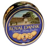 Advantus Danish Butter Cookies - Reusable Container - Butter - Can - 1 Each