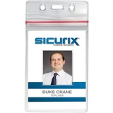 Baumgartens Sealable Vertical ID Badge Holder