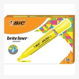 BIC Brite Liner Grip XL Highlighter BLMG11-YW