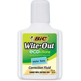 BIC Wite-Out Water-Based Correction Fluid - WOFWB12WE