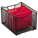Rolodex Mesh Collapsible Filing Crate - Steel
