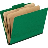 Pendaflex PressGuard Classification Folder - Letter - 8.5 x 11 - 2/5 Tab Cut - 2 Divider - 2 Expansion - 2 Fastener - 2 Capacity - 10 / Box - 20pt. - Green