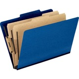 Pendaflex PressGuard Classification Folder - Legal - 8.5' x 14' - 2/5 Tab Cut - 2 Divider - 2' Expansion - 2 Fastener - 2' Capacity - 10 / Box - 20pt. - Blue