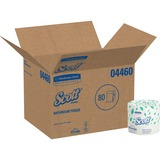 Kimberly-Clark Scott Embossed Bath Tissue - Bathroom Tissue - 2 Ply - 605 sheets/roll - White