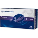 Kimberly-Clark Safeskin Nitrile Exam Gloves - Large Size - Powder-free, Latex-free - 100 / Box - Purple