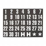 Magna Visual Magnetic Calendar Dates Indicators