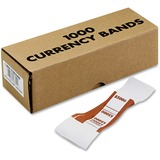 Currency Straps, Self Sealing Adhesive, 20 Lb, 1-1/4