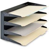 MMF Steelmaster Horizontal Desktop File Organizer 2644HLBK