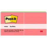 Post-it Notes, 3 in x 3 in, Cape Town Color Collection, Lined