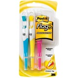 3M Post-it Flag Highlighter Pen - Yellow Ink, Pink Ink, Blue Ink - 3 / Pack