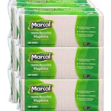 Marcal Luncheon Napkin - Lunch Napkin - 1 Ply - 400 Per Pack - 12.5' x 11.25' - White